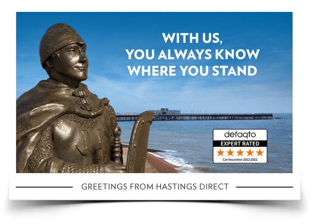 Hastings Direct car insurance.