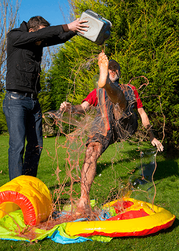 Hastings Direct managers get gunged for Children in Need