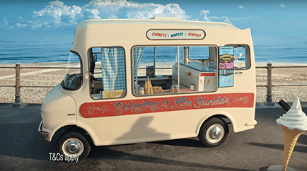 Ice cream car insurance TV advert