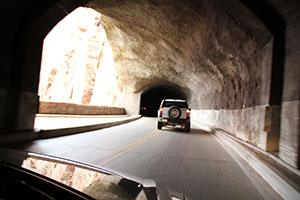 The Zion-Mount Carmel Tunnel.
